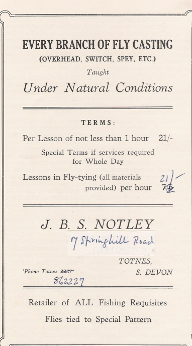 Notley's fly casting booklet